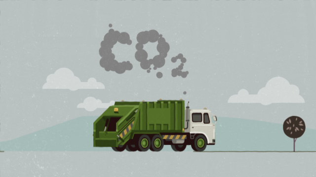 CO2 from normal waste collection